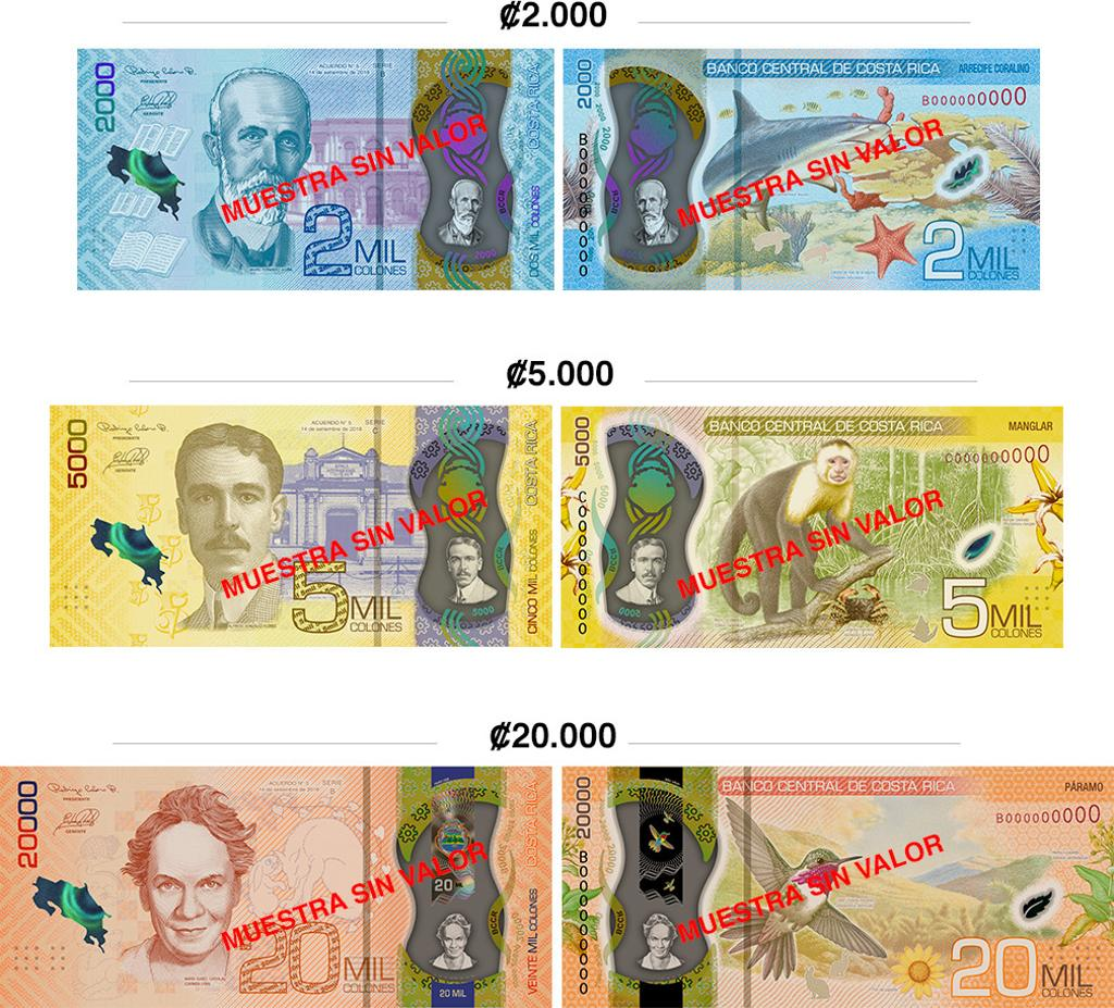 costa rica banknotes